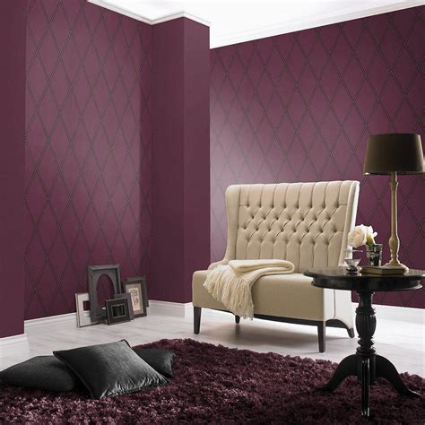 Wallpaper Rumah Cosmo 818 1 Modern wallpaper modern purple silver rasch cosmopolitan 576580