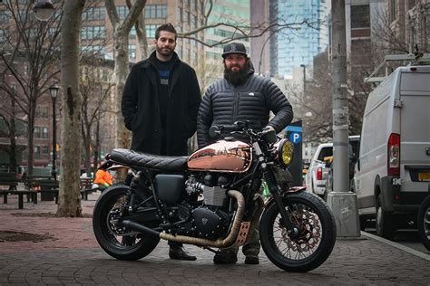 Miss Moneypenny NYC Triumph Bonneville   Return of the