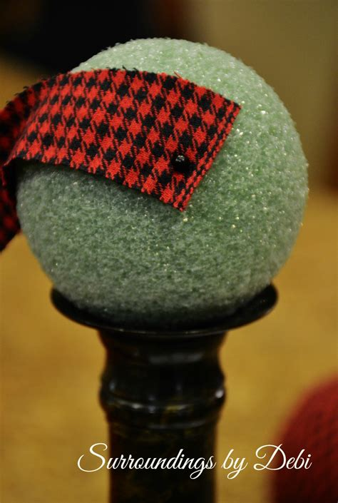 fabric covered styrofoam ball ornaments fabric ornaments simple diy project surroundings by debi