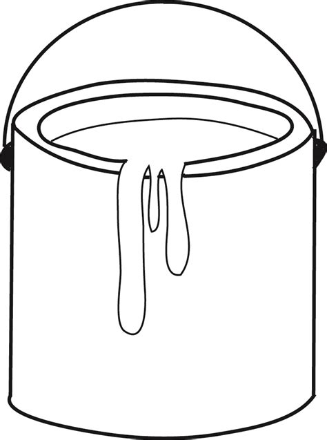 bucket template clipart best