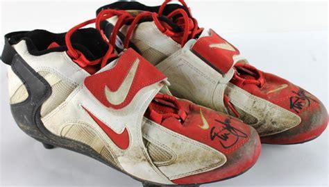 used football shoes lot detail steve signed used nike football