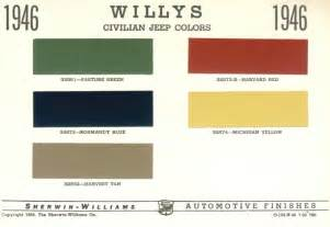 original color 1946 willys jeep cj2a original color chart a photo on