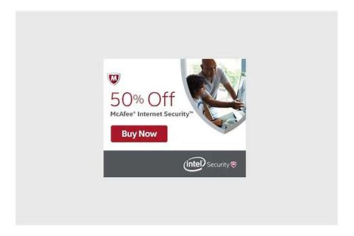 mcafee coupons canada