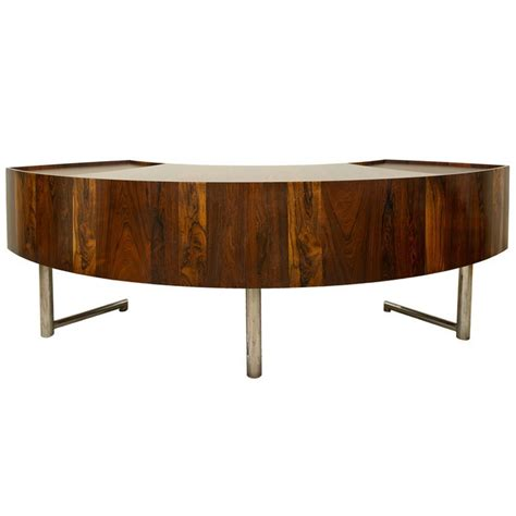 Leif Jacobsen Curved Rosewood Desk Furniture Pinterest Curved Reception Desk Furniture