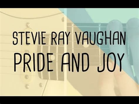 play pride  joy intro stevie ray vaughan guitar lesson tabsheet youtube