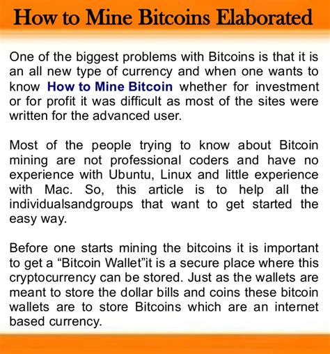 How To Make Bitcoin Miner by How To Mine Bitcoins Elaborated