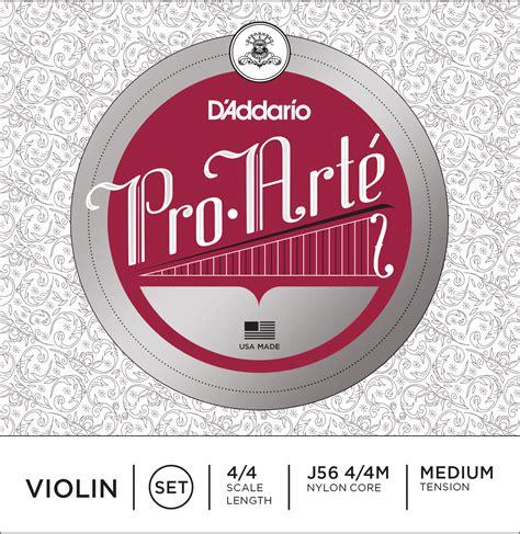 D Addario Pro Arte Strings - d addario pro arte violin strings set 20 d addario