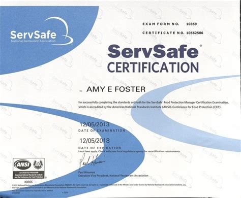 certifications and awards amy foster