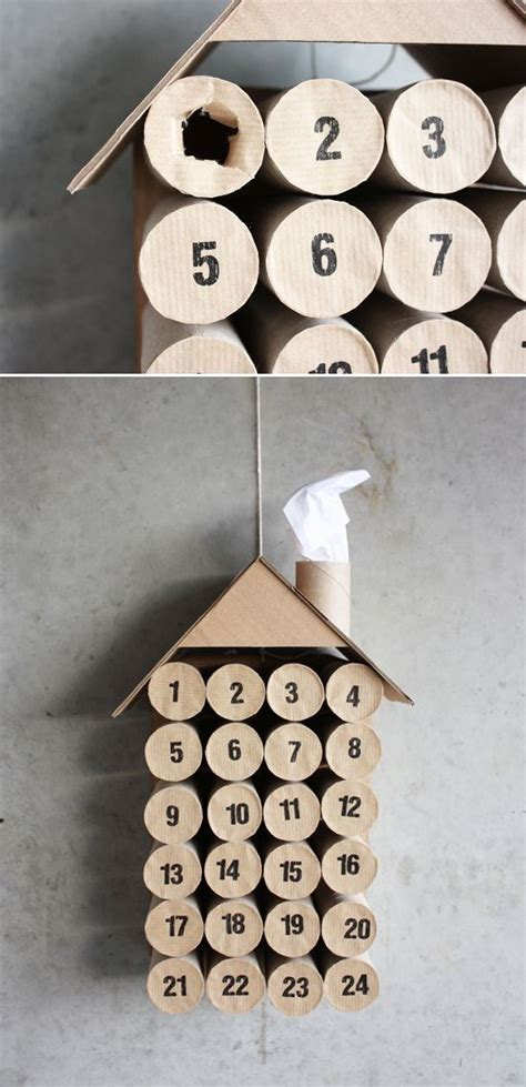 Chimney Paper Roll - paper roll house advent calendar with chimney my