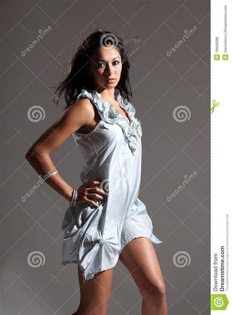 Dress Model Blue Fashion Impor beautiful fashion model in light blue dress royalty free stock photos image 16846088