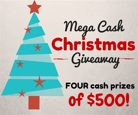 Christmas Cash Giveaway - christmas cash giveaway of 500 4 winners crafty morning