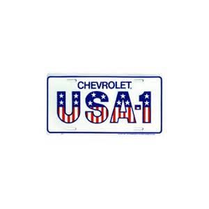 chevrolet usa 1 license plate corvette parts