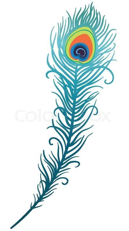 peacock feather illustration clipart 20