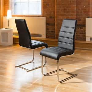 Modern High Back Dining Chairs Dining Chair Chairs Set Of 2 Black Faux Leather Modern High Back 207 Quatropi