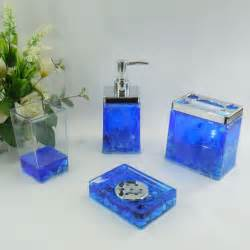 Blue Bathroom Accessories Sets Blue Sea Conch Acrylic Bath Accessory Sets H4005 Wholesale Faucet E Commerce