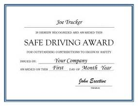 driving certificate template safe driver award certificates