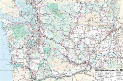 map of washington state usa washington state road map