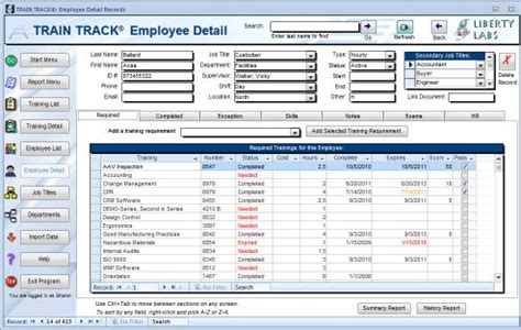 employee training record template excel | planner template