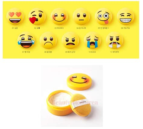 Innisfree X Emoji No Sembun Mineral Powder box korea innisfree no sebum x emoji mineral
