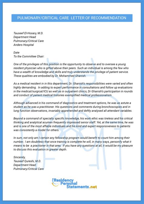 Thank You Letter Of Recommendation Residency Fellowship Letter Of Recommendation Sle On Behance