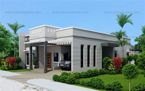 house plan 2018 arcilla three bedroom one storey modern house shd 2016026 eplans