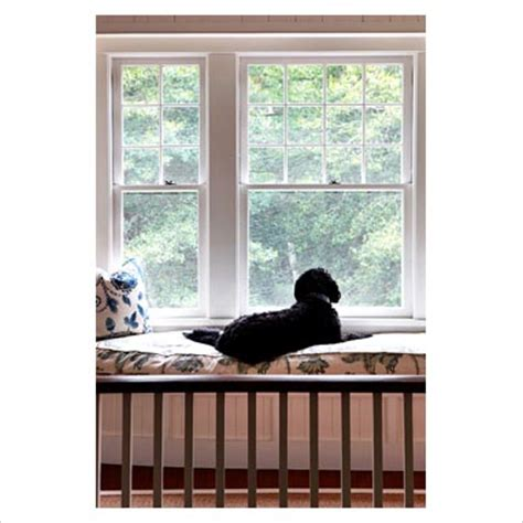 dog window bench gap interiors country landing with dog on window seat