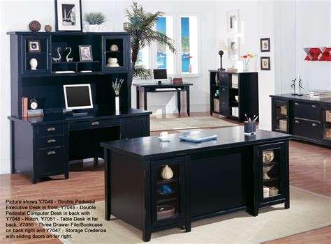 Black Office Desk Tribeca Loft Black Office Furniture Series