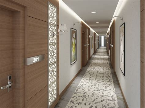 3d hotel corridor model turbosquid 1255046