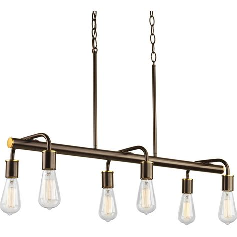 swing light progress lighting swing collection 6 light antique bronze