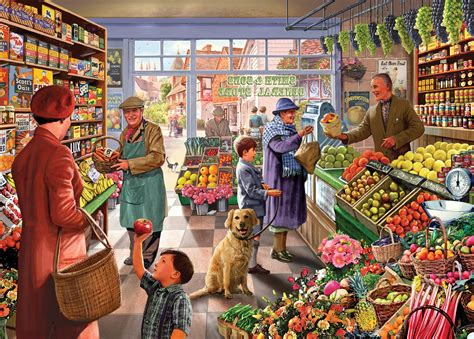 Kitchen Collection Free Shipping Jigsaw Puzzle Times Past Village Green Grocer Holdson