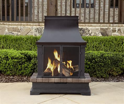 portable patio fireplace garden oasis wood burning fireplace