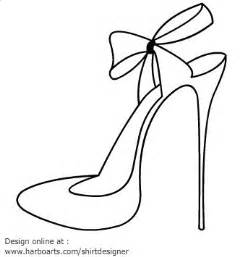 shoe drawing template high heel printables high heel blade shoes outline with