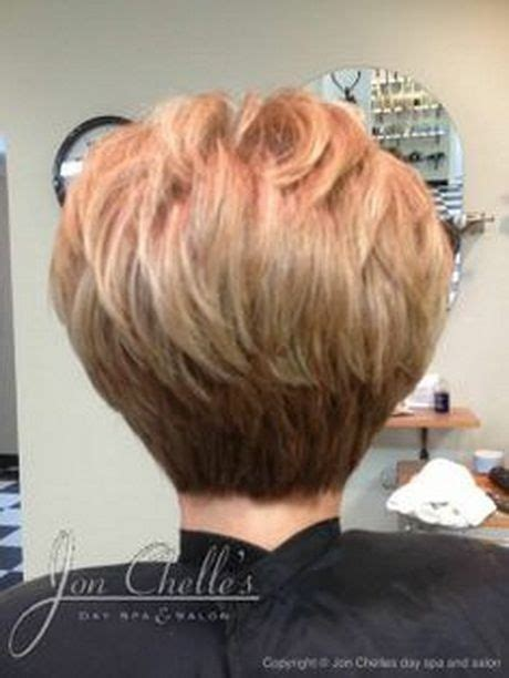 short gray hairstyles with wedge in back stacked short hair cuts short haircuts back view stacked