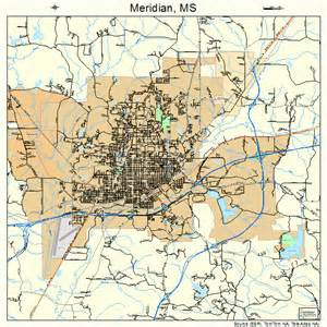 meridian mississippi map 2846640