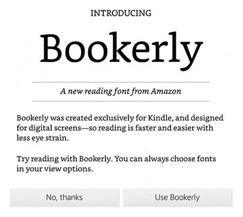 anyone using new kindle bookerly font? | the ebook reader blog