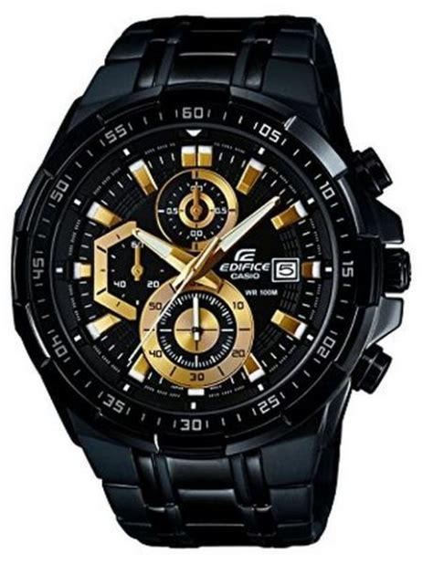 Casio Edifice Efr 524 Gold Chronograph All Stell Casio Edifice For Analog Stainless Steel Band