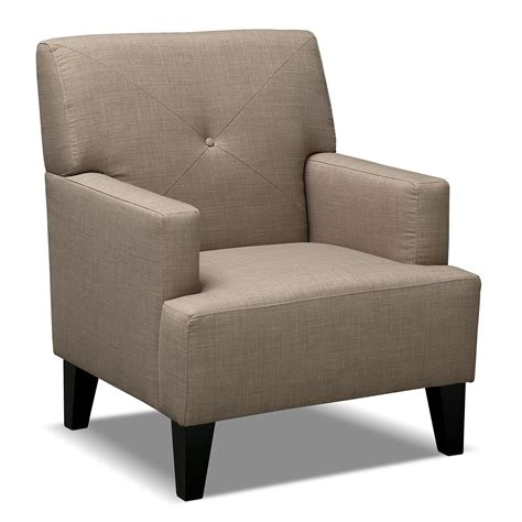 chairman upholstery avalon accent chair wheat value city furniture