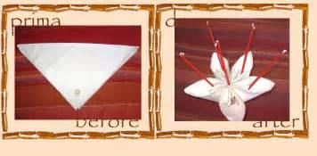 Forme Tovaglioli Di Stoffa by Riciclo Creativo Tovaglioli Fiore Origami Di Stoffa