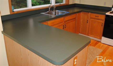 How To Do Laminate Countertops by Kitchen Countertop Reveal Using The Rust Oluem Countertop Transformations Kit Burger
