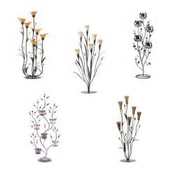 Lotus Flower Candle Holder - decorative flower sculpture metal tealight candle holders