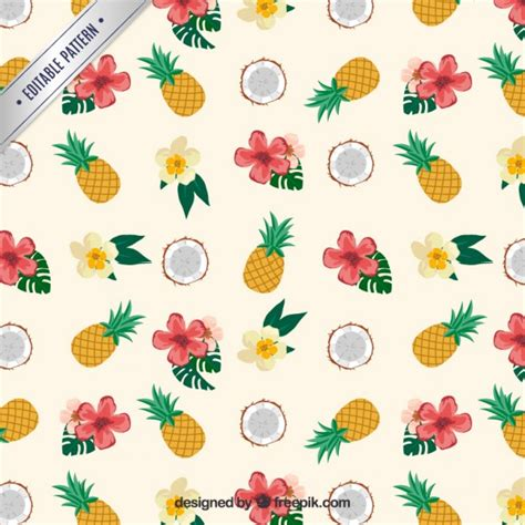 pattern tropical vector tropical pattern vector free download