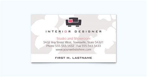interior design business cards templates free 25 graphic design exles of business cards 171 graphic
