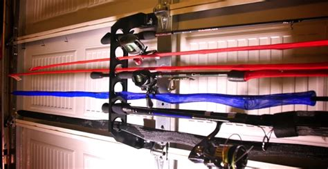 Rods Overhead Door Rods Overhead Door How To Fishing Rods On Your Garage Door Snapguide Fishing Rod Storage On