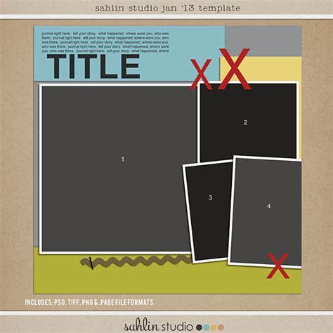 digital scrapbooking templates free jan 13 digital scrapbooking free template sahlin studio