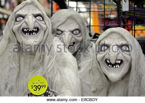 scary decorations for sale display scary decorations sale stock photos
