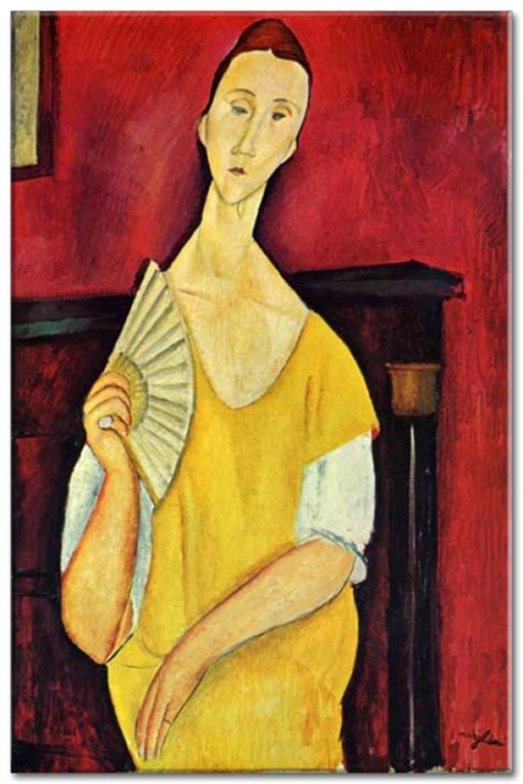 modigliani with a fan reprodukcie amedeo modigliani with a fan zs17652