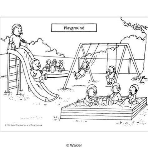 classroom scene playground time walder education