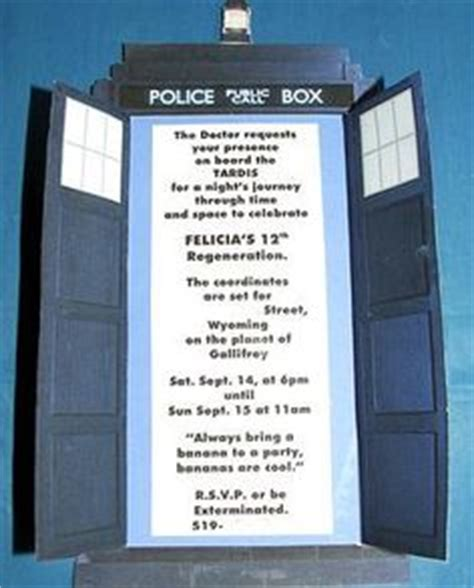 1000 Images About Doctor Who Party On Pinterest Doctor Who Party Doctor Who And Dr Who Tardis Invitation Template
