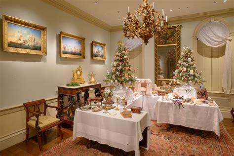 empire dining room victorian christmas table