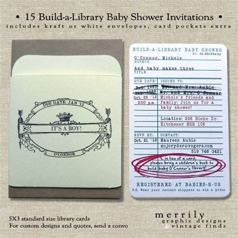 Library Card Baby Shower Invitation by 17 Best Ideas About Library Baby Showers On
